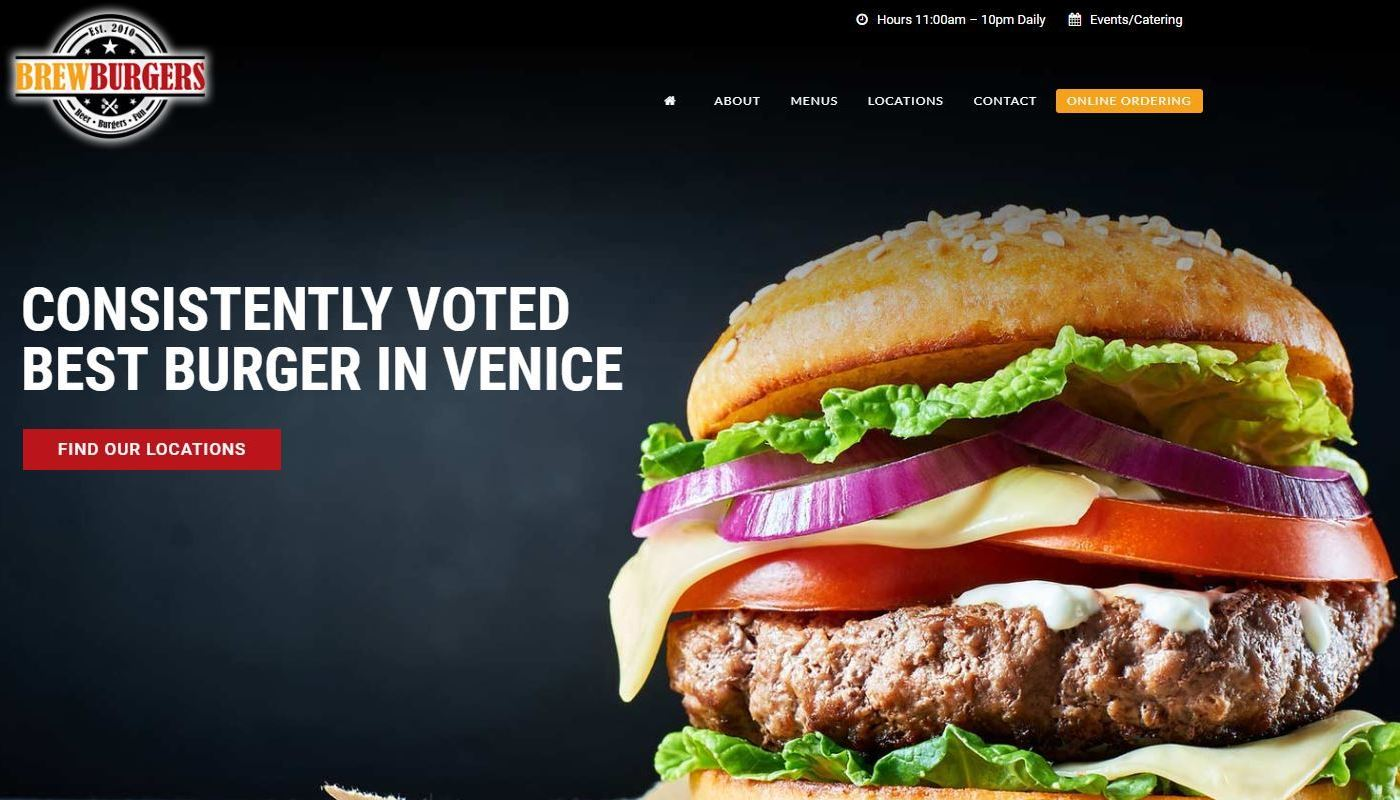 Brewburgers WordPress Website Design Worcester MA