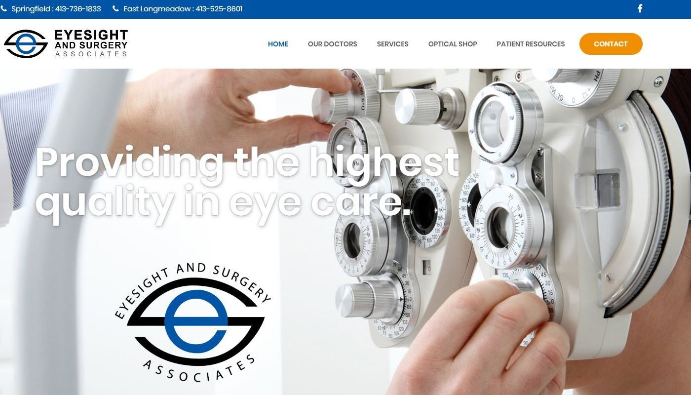 Eyesight Surgery WordPress Website Design Worcester MA