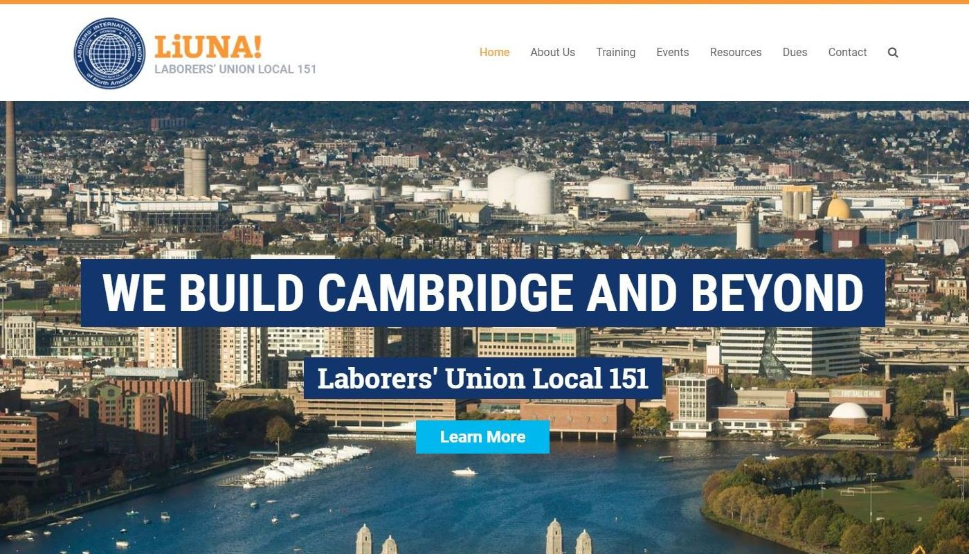 Laborers Local WordPress Website Design Worcester MA